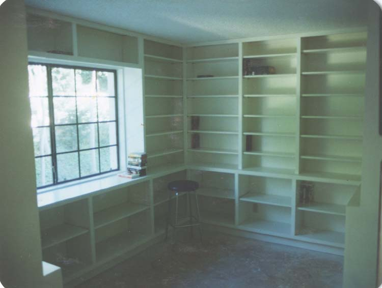 Prodan Construction Built In Shelves For Dvds Vhs Tapes